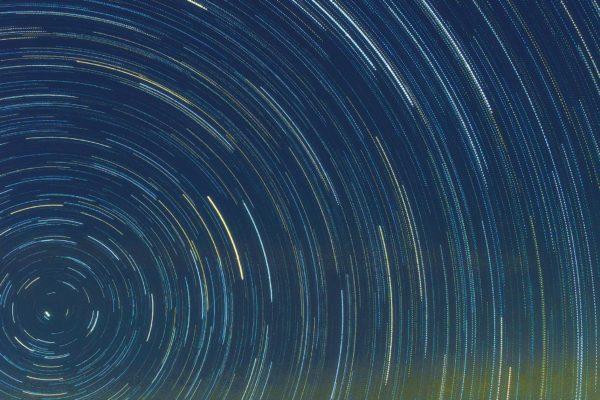 """Natalia Peryga - """"Wulkan Teide na tle Star trails"""""""