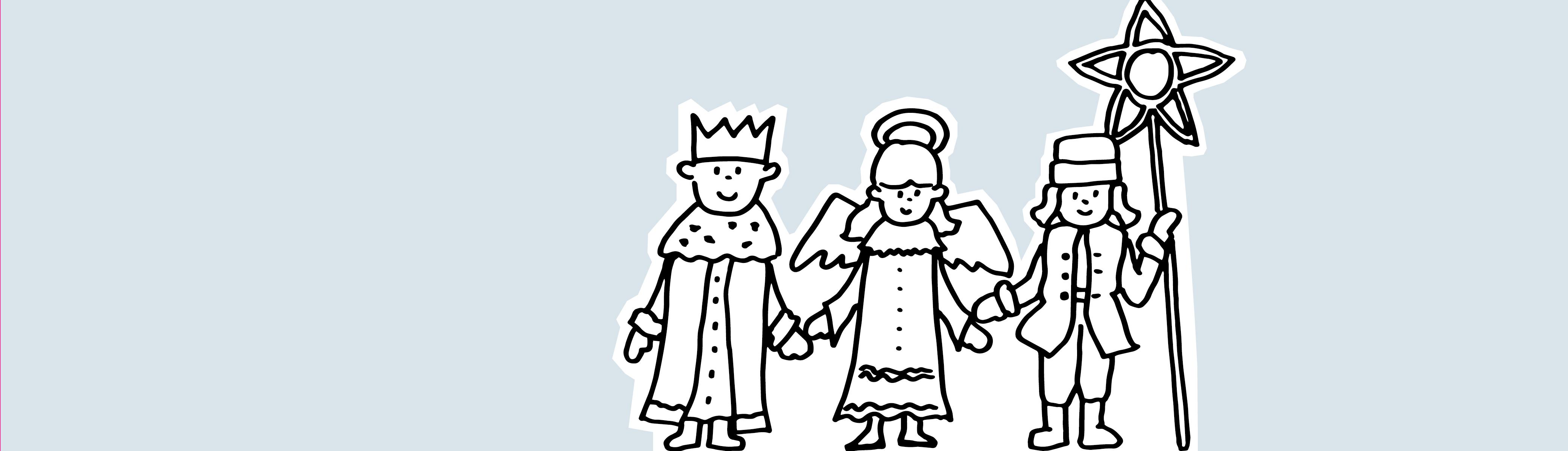 Święto Trzech Króli – kolorowanka
