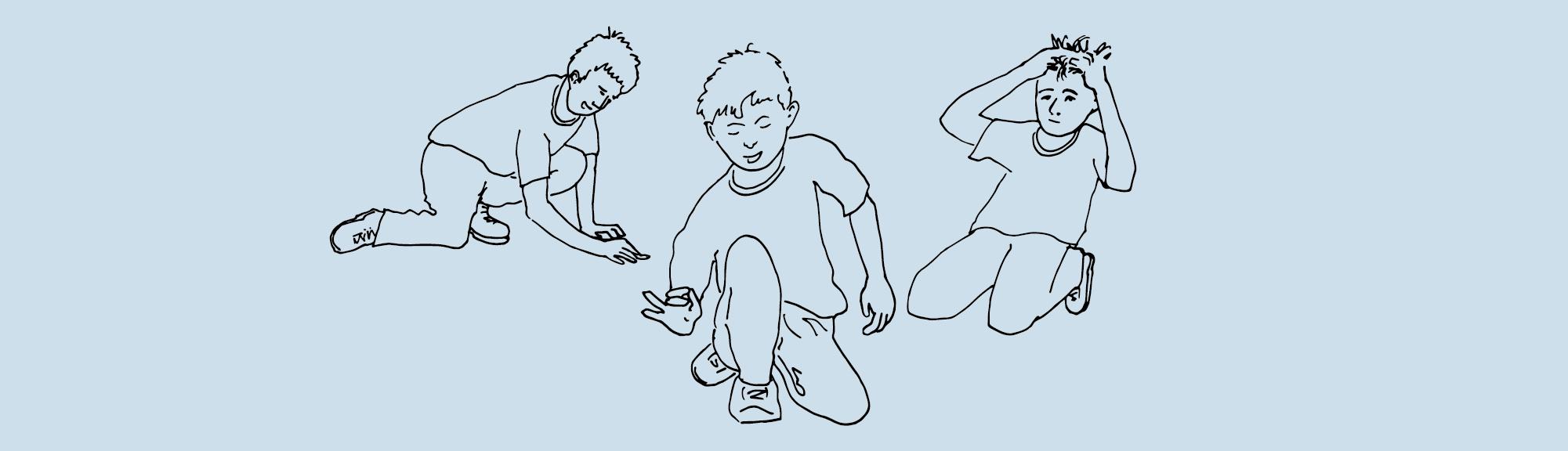 Kolorowanka – Śląskie tradycje – Gry i zabawy: gra w kapsle