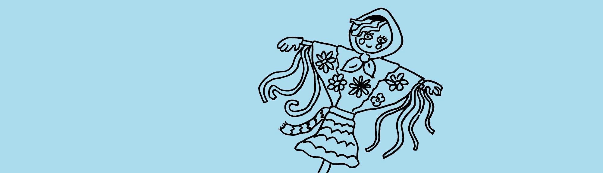 Kolorowanka – Tradycje i obrzędy: topienie Marzanny