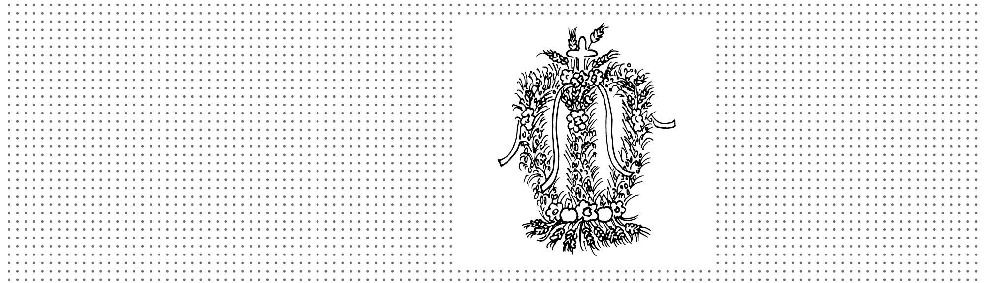 Kolorowanka – Śląskie tradycje: Korona dożynkowa